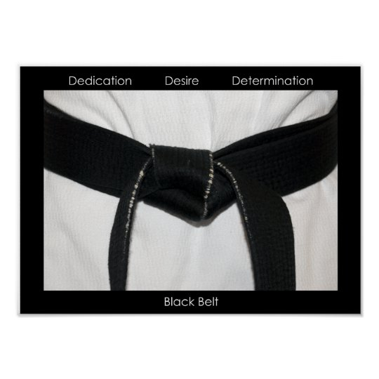 Martial Arts Black Belt Motivational Poster