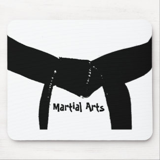 Martial Arts Black Belt Mouse Pad
