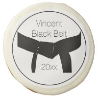 Martial Arts Black Belt Party Favor Sugar Cookie