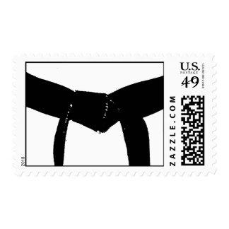 Martial Arts Black Belt Postage Stamp
