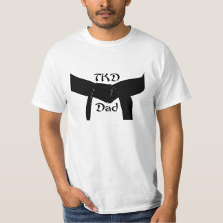 Martial Arts Black Belt TKD Dad T-Shirt