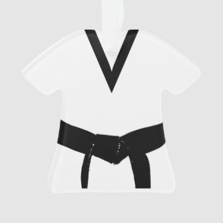 Martial Arts Black Belt Uniform Ornament