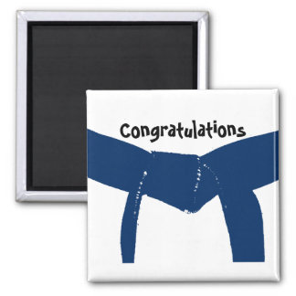 Martial Arts Blue Belt Congratulations Magnet