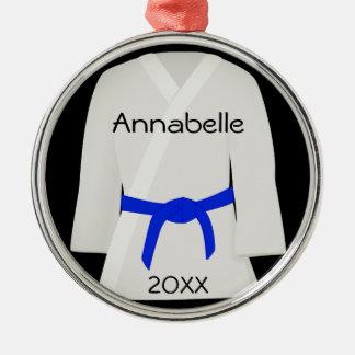Martial Arts Blue Belt Ornament