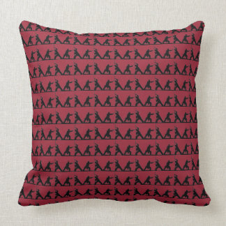 MARTIAL ARTS BO STICK FIGHTING SILHOUETTE PILLOW