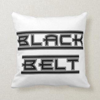 Martial Arts Bold Black Belt Throw Pillow