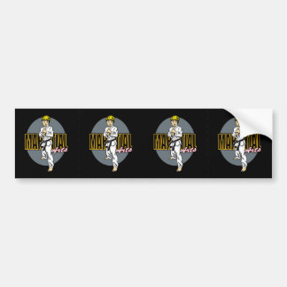 Martial Arts Boy Bumper Sticker