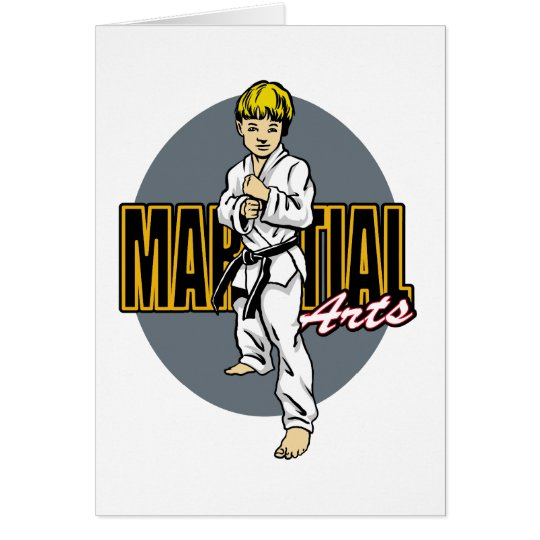 Martial Arts Boy Card