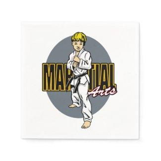 Martial Arts Boy Napkin
