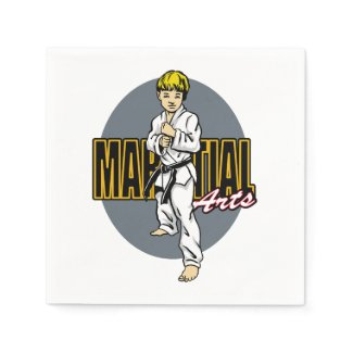 Martial Arts Boy Napkin