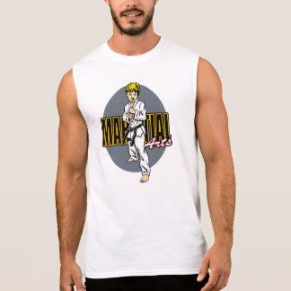 Martial Arts Boy Sleeveless T-shirts
