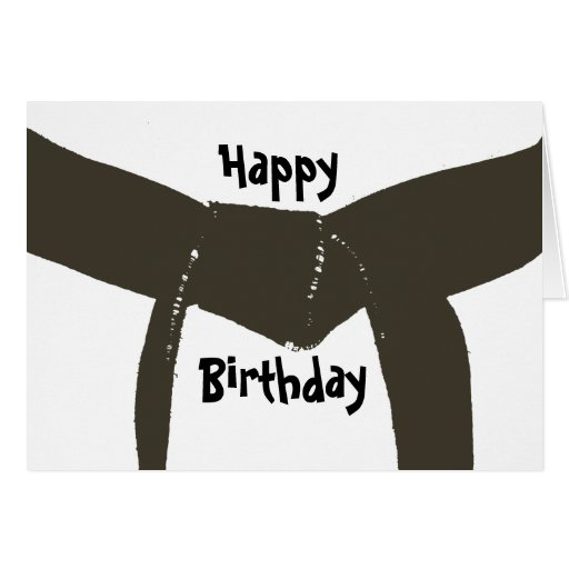 martial arts brown belt birthday card zazzle