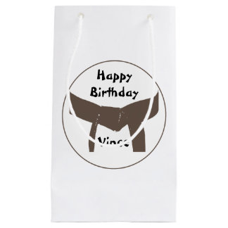 Martial Arts Brown Belt Happy Birthday Small Gift Bag