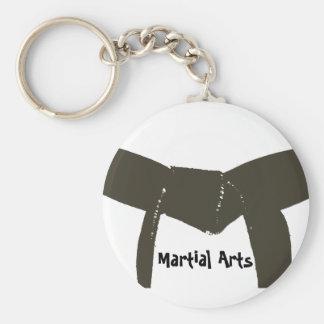 Martial Arts Brown Belt Keychain