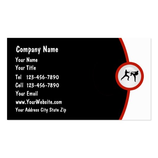 Martial Arts Business Card