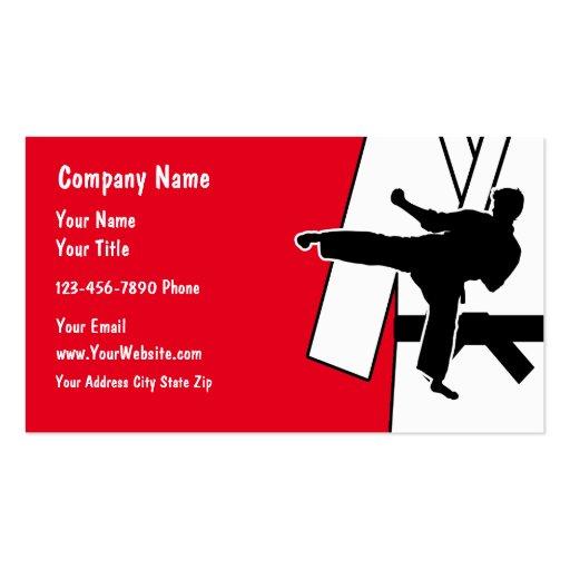Martial Arts Business Card Zazzle