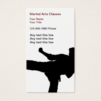 Martial Arts Business Cards