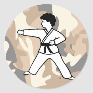 Martial Arts Camouflage Boy Stickers