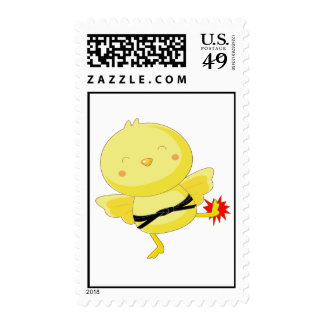 Martial Arts chick kick Postage