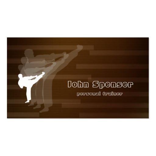 Martial Arts Coach Brown Business Card