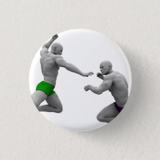 Martial Arts Concept for Fighting and Protection Button