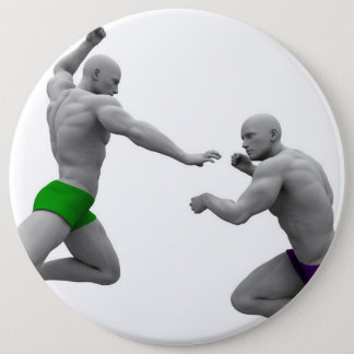 Martial Arts Concept for Fighting and Protection Pinback Button