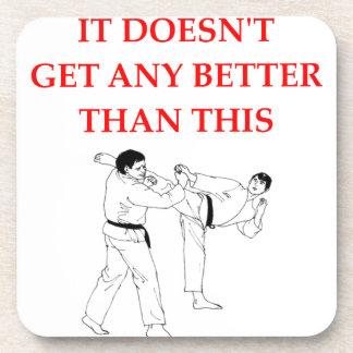 martial arts drink coaster