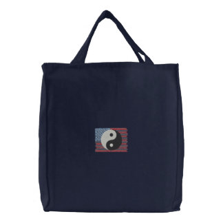 Martial Arts Embroidered Tote Bag