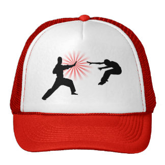 Martial Arts Energy Silhouette Hats