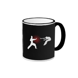 Martial Arts Energy Silhouette Coffee Mugs