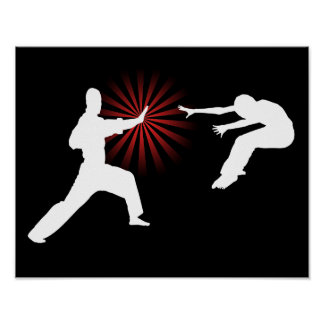 Martial Arts Energy Silhouette Poster
