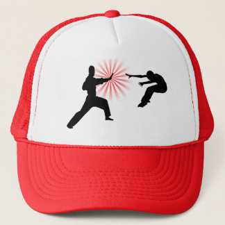 Martial Arts Energy Silhouette Trucker Hat