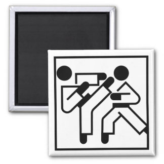 Martial Arts Figures 2 Inch Square Magnet