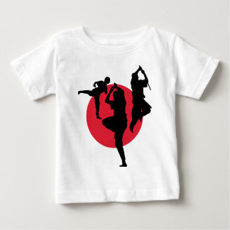 Martial Arts figures on a red circle Baby T-Shirt
