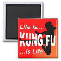Martial Arts Flying Kick Girl | Life Is Kung Fu Magnet