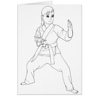 Martial Arts Girl Card