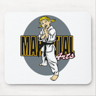 Martial Arts Girl Mouse Pad