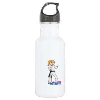 Martial Arts Girl 18oz Water Bottle