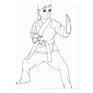 Martial Arts Girl Postcard