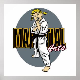 Martial Arts Girl Poster