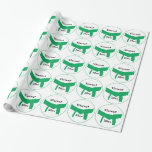 Martial Arts Green Belt Gift Wrapping Paper