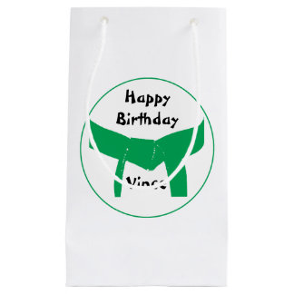 Martial Arts Green Belt Happy Birthday Small Gift Bag
