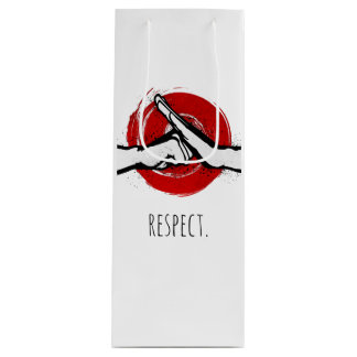 Martial Arts Greeting - White Wine Gift Bag