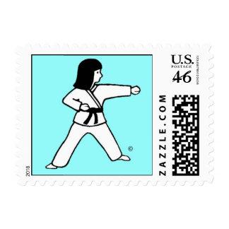 Martial Arts Hanukkah Girl Postage Stamps