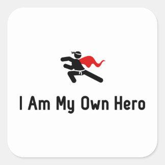 Martial Arts Hero Square Sticker