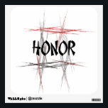 """Martial Arts Honor Wall Sticker<br><div class=""""desc"""">An important virtue or value to a martial artist is honor. This unique design features an abstract black,  red and gray fractal art background with an Asian style font. The Martial Arts Honor Wall Sticker makes a unique gift for a birthday,  holiday or belt rank promotion test.</div>"""