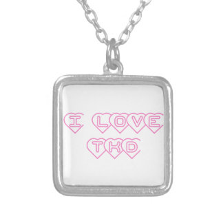 Martial Arts I Love TKD Necklace