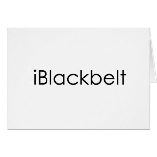 Martial Arts iBlackbelt Card