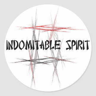 Martial Arts Indomitable Spirit Classic Round Sticker