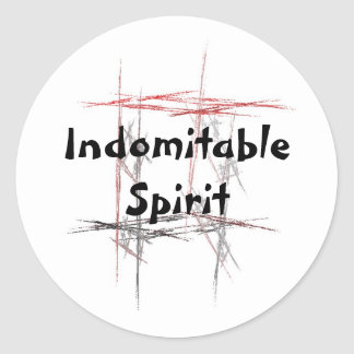 Martial Arts Indomitable Spirit Stickers